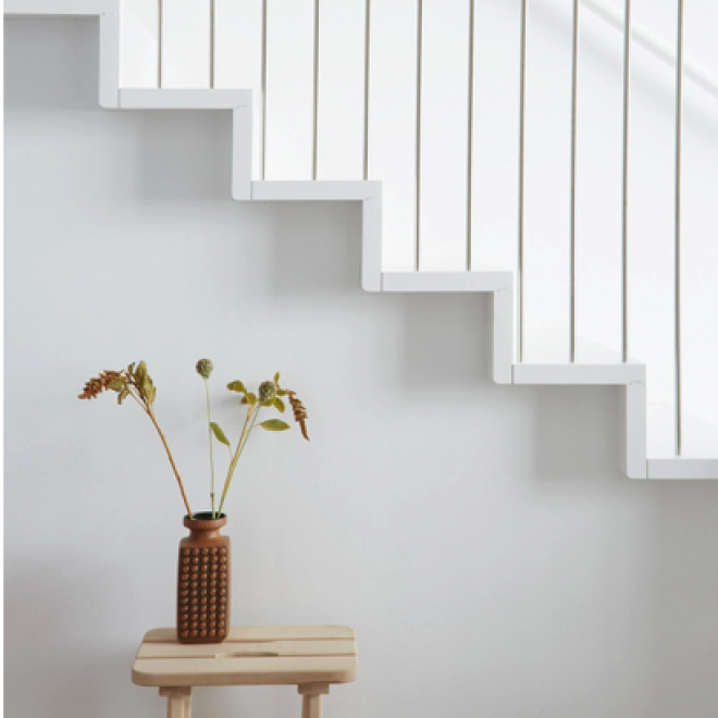 staircase in white