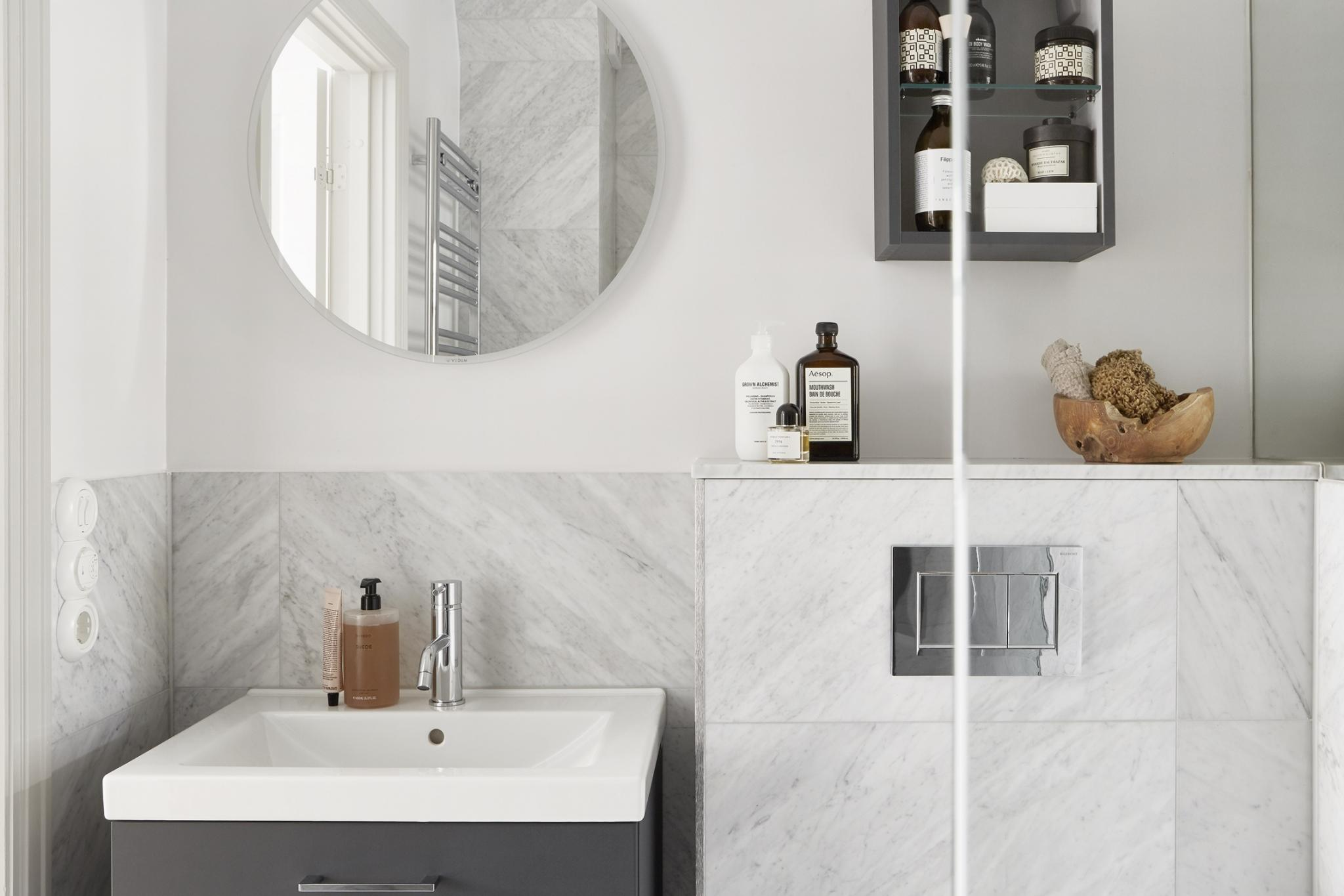 Bathroom in small Stockholm apartment