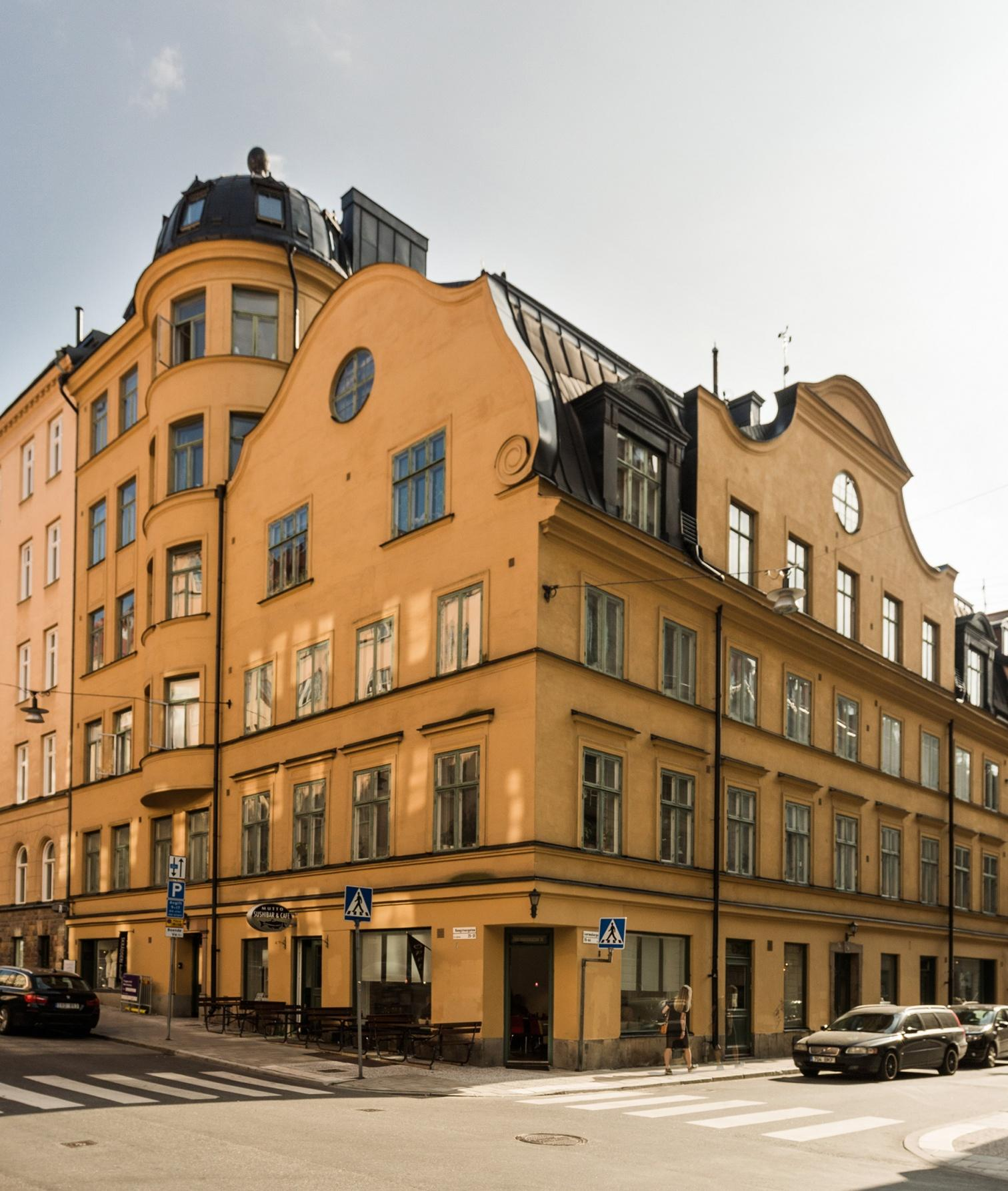 Facade of Stockholm apartment building